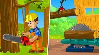 Permainan anak tukang kayu laki-laki | Membangun rumah Episode 01 | Permainan anak-anak menyenangkan