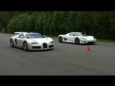 bugatti veyron vs koenigsegg ccxf 60 310 km h youtube. Black Bedroom Furniture Sets. Home Design Ideas
