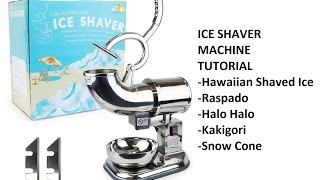 Ice Shaver Shaving Machine (Hawaiian Shaved Ice, Raspado, Halo halo, Kakigōri, Snow Cone)