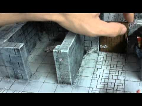 Dungeon made from foam board.