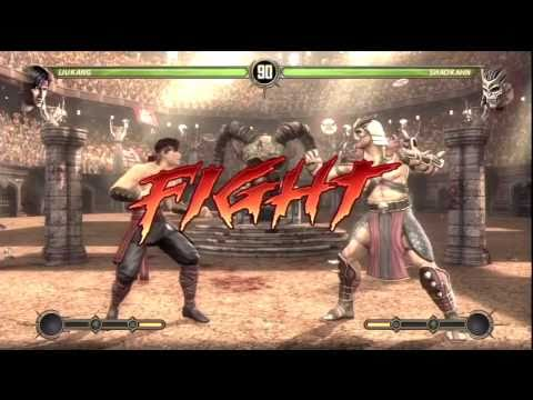 Mortal Kombat 9 - How to Beat Shao Kahn vs Liu Kang (EASY) HD