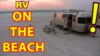 RV Camping ON THE BEACH in Destin Florida