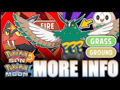 Pokémon Sun and Moon - Rowlet's final evolution Grass/Ground? New info June 2nd, new Pokémon teased!