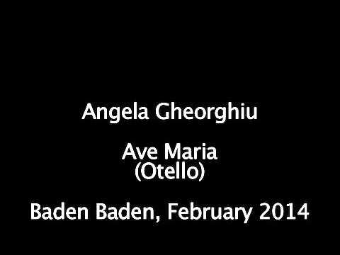 Angela Gheorghiu - Ave Maria (Otello) - Concert in Baden Baden, February 2014