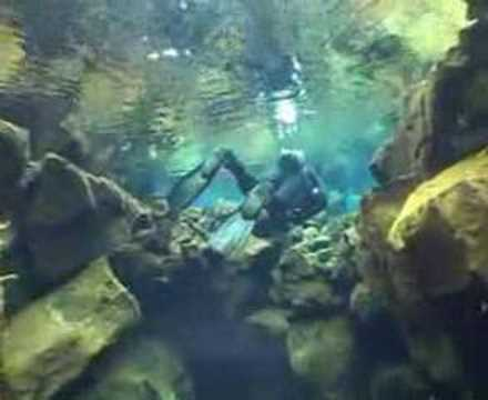 World class diving in Silfra, Thingvellir