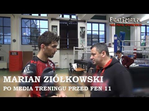 Marian Ziółkowski po media treningu przed FEN 11 Warsaw Time