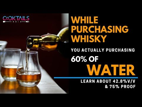 What is Alcohol V/V and What is Proof  in Hindi | 42.8% v/v & 75% Proof is what? | Cocktails India