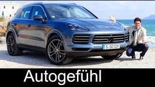 Porsche Cayenne FULL REVIEW 2018 all-new neu Cayenne V6 test - Autogefühl