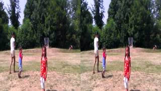Tina Flying a Kite in 3D SBS