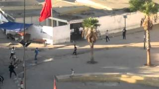 kids chase police vans in tangiers morocco.