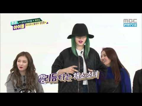 Jiyoon and Sohyun dancing to Overdose