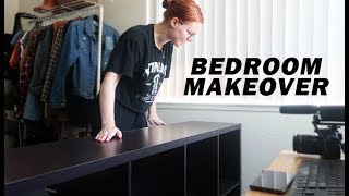 bedroom makeover | cleaning, organizing & decorating