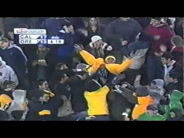 Oregon TE Tim Day 31 yard touchdown catch vs. Cal 11-08-2003
