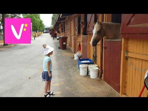 ✔Лошади и дети. Прогулка по конюшне    Vicky visits Equestrian Centre Centennial Parklands