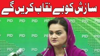 Hum Sazish ko Benaqaab karin Gye | Maryam Aurangzeb