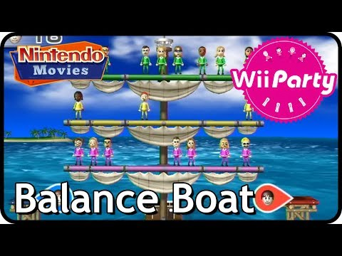 Wii Party - Balance Boat Beginner (Multiplayer)
