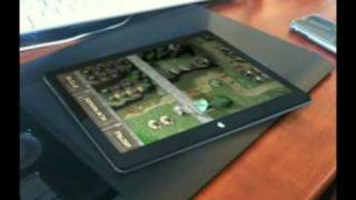 Apple Tablet running new Tower Defense game_ Towers of War