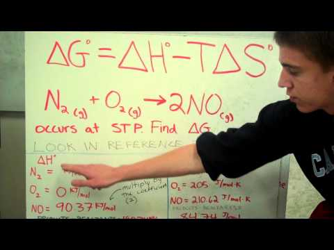 Gibbs Free Energy, Entropy, And Enthalpy