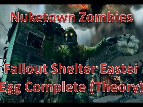 NukeTown Zombies Fallout Bunker Easter Egg  SOLVED?!Connection to Tranzit. MOON(BO2 Zombies)