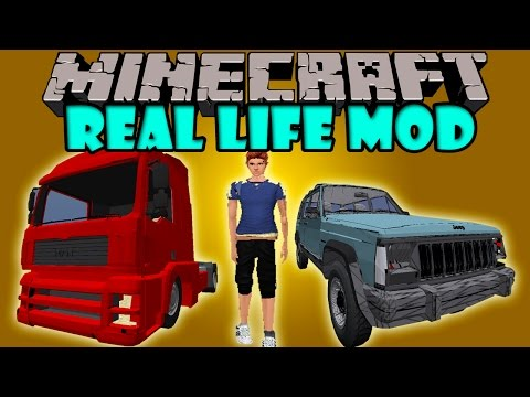 REAL LIFE MOD - Realismo Extremo en Minecraft! - Minecraft mod 1.7.10 Review ESPAÑOL