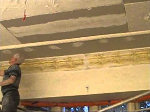 Plastering How to Install an Ornate Plaster Ceiling Part 20