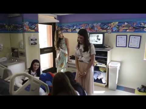 Miss Universe Contestants at Baptist Health Children's Hospital