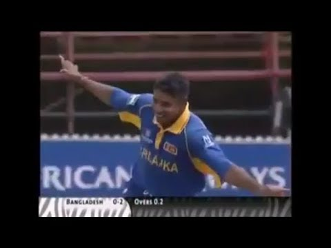 Chaminda vass hat-trick vs bangladesh on 14 feb