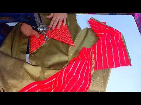 प्लेन कपड़े से पार्टी वियर कुर्ती बनाना सीखे/party wear kurti design/bridal kurti design making