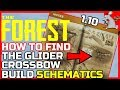 THE FOREST PS4 PC Update How To Get Glider Crossbow And Build Schematics