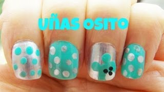 Uñas osito (muy facil) - Nails of teddy (very easy)