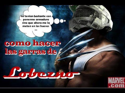 Como hacer las garras de Lobezno (Wolverine)