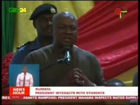 President Mahama Addresses Knust Students video
