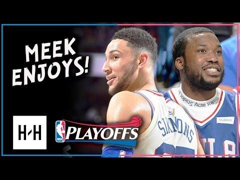 Ben Simmons Full Game 5 Highlights vs Heat 2018 Playoffs - 14 Pts, 10 Reb, Meek Mill Watching!