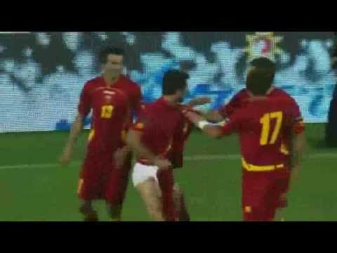 Mirko Vucinic goal celebration Montenegro v Switzerland 2010