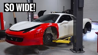 Ferrari GT3 458 Widebody Install! [Part 1]