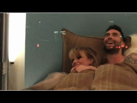 Adam Levine Shirtless in Bed With His Girlfriend