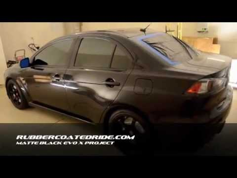 Evo X Whole Car Matte Black Plasti Dip