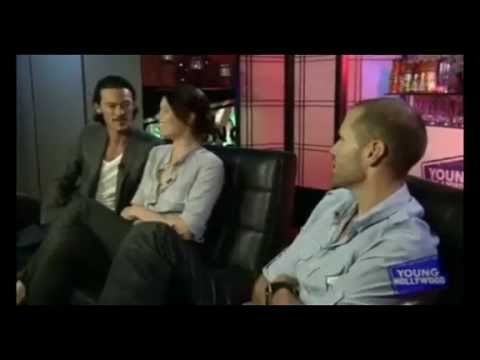 Luke Evans & Gemma Arterton @ Young Hollywood Studios