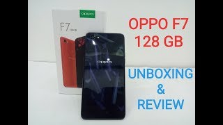 OPPO F7 128 GB/6GB Dimond Black Unboxing in Hindi  OPPO F7 128 GB Price,Camera,specification