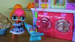 LOL SURPRISE DOLL Cutie Stays Home From School & Has Worse Day Ever!