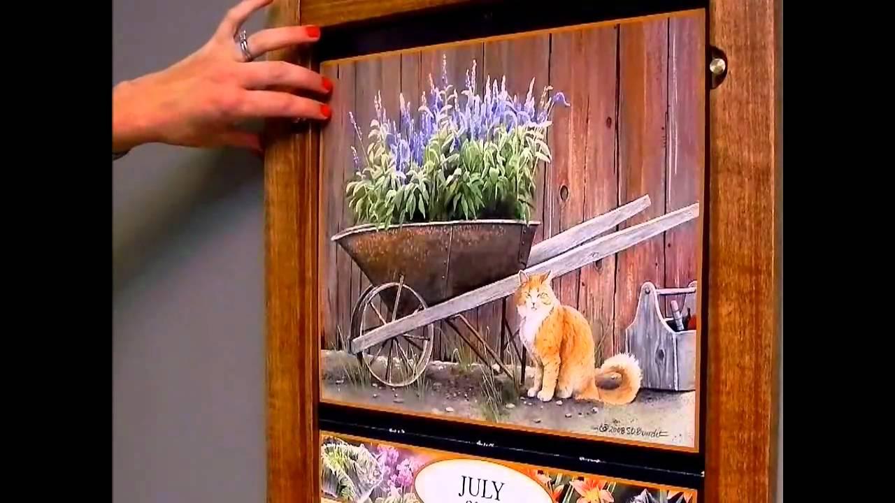 Calendar Wooden Frame : Wall calendar frame plan item youtube