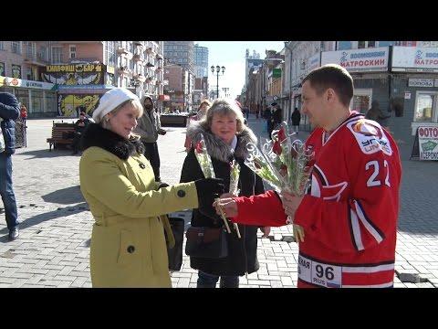 """Цветы на 8 марта - от Евгения Чесалина, лося """"Автика"""" и лосёнка """"Автоши"""""""