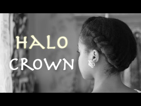 Halo Crown on Natural Hair