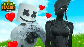 MARSHMELLO FALLS IN LOVE WITH LYNX!!! - Fortnite Short Films
