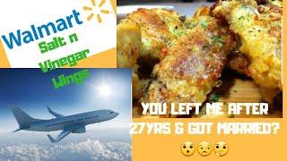 Walmart Salt n Vinegar Wing n More Mukbang /Come get this TEA!!!