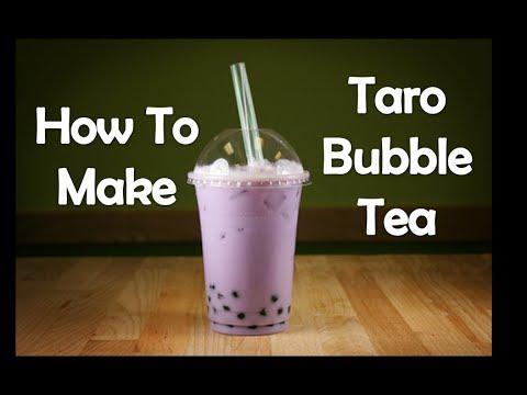 How To Make Taro Bubble Tea Youtube