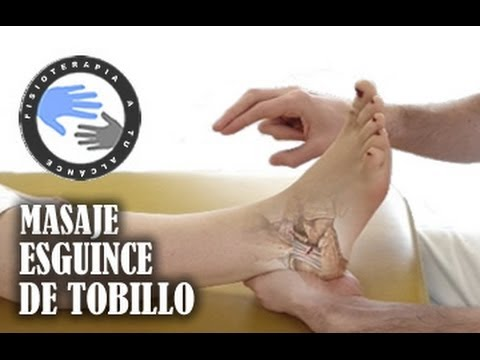 Masaje para esguince de tobillo  /  Fisioterapia a tu alcance