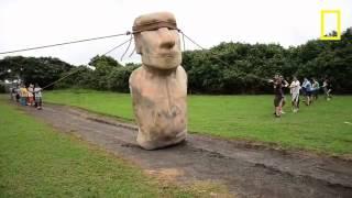 Chuyen la - Cách di chuyển bức tượng trên đảo Phục sinh bằng sức người
