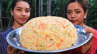 Yummy cooking rice fried with shrimp recipe - Cooking skill