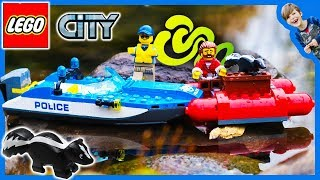 Lego City Mountain Police Boat Skunk Squad
